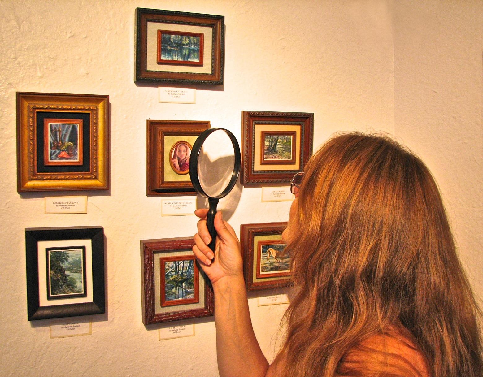 Barbara at Mendocino art show