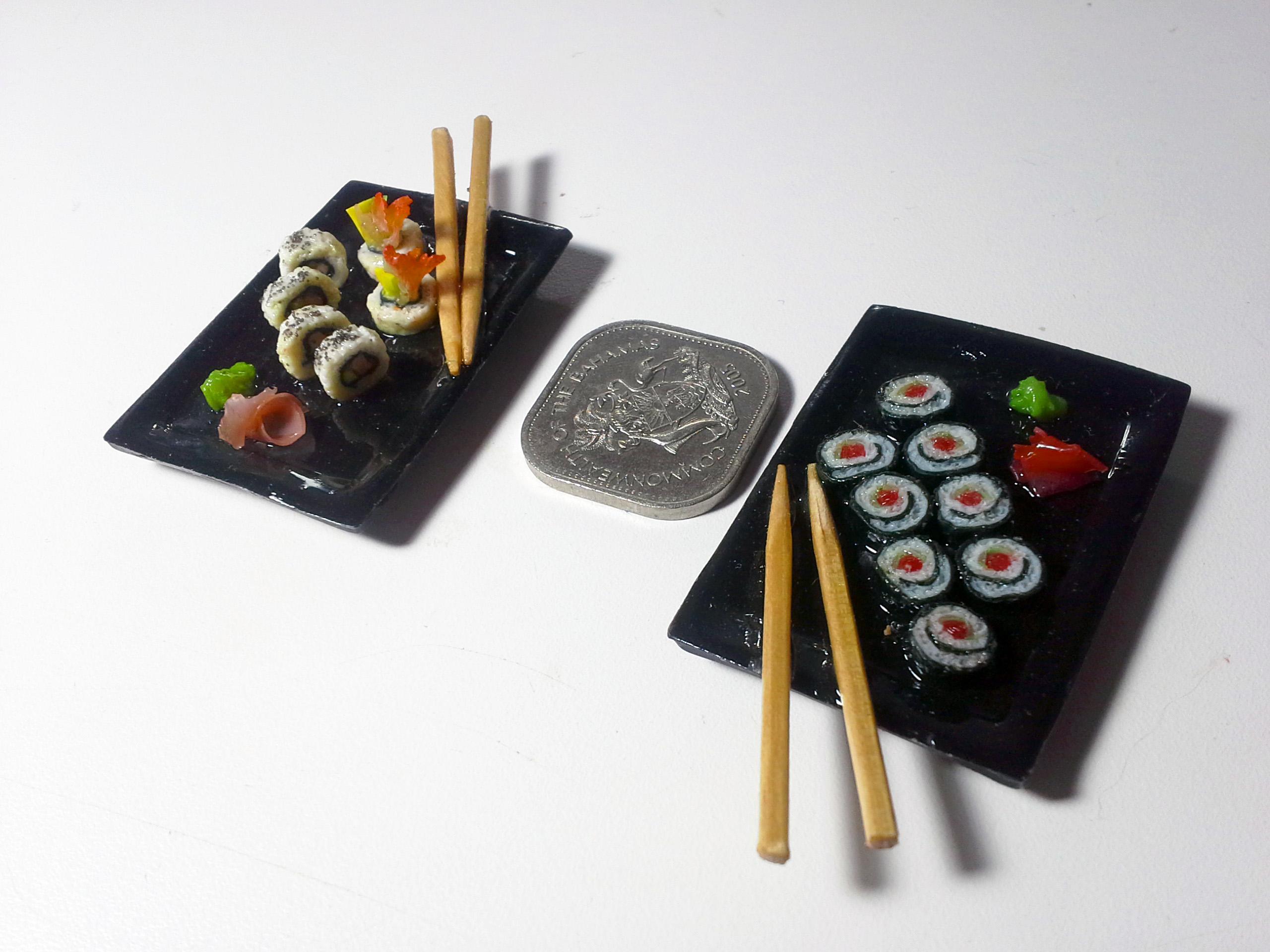 Miniature maki rolls