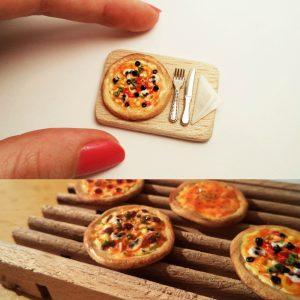 Miniature Pizza Collage