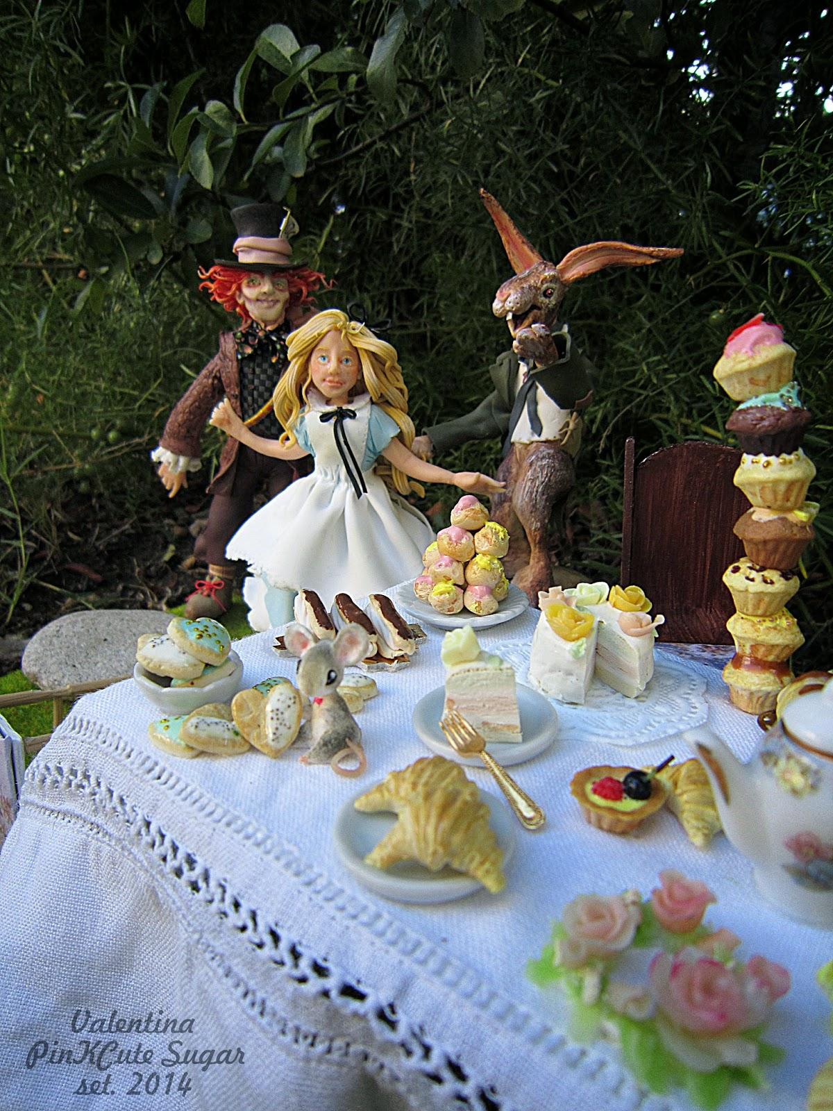 alice in wonderland fimo handmade miniaturefood alice in wonderland party valentina gaia manzo pinkcute sugar (56)